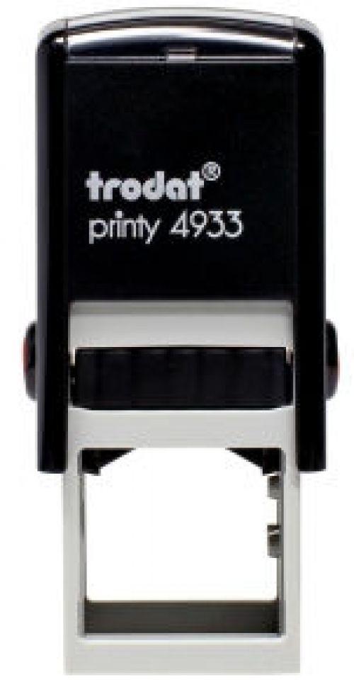 Trodat Printy 4933 Self Inking Custom Stamp. Imprint Area 23 x 23 mm - 4 lines maximum