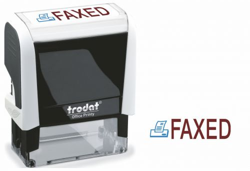 Trodat Office Printy Word Stamp FAXED 77240 [Red/Blue]