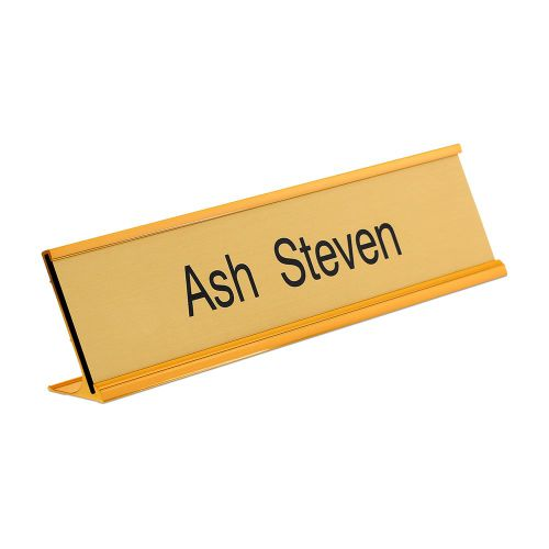 Trodat Gold desk nameplate 250 x 50mm