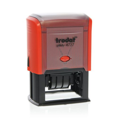 Trodat Printy 4727 Self Inking Custom Text And Date Stamp. Imprint Area 59 x 38 mm - 6 lines maximum - 3 above and 3 below date