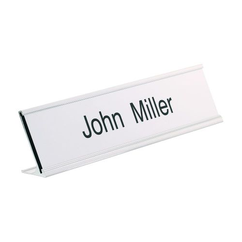 Trodat Silver desk nameplate 250 x 50mm