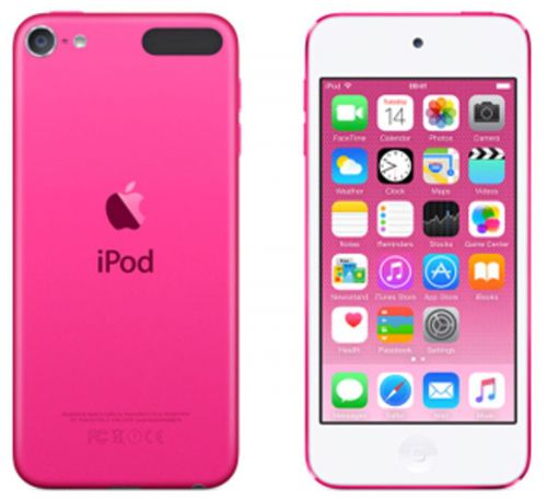 Apple iPod Touch (4.0 inch Multi-touch) Retina Display A8-Chip 32GB WLAN Bluetooth Camera iOS8 (Pink)