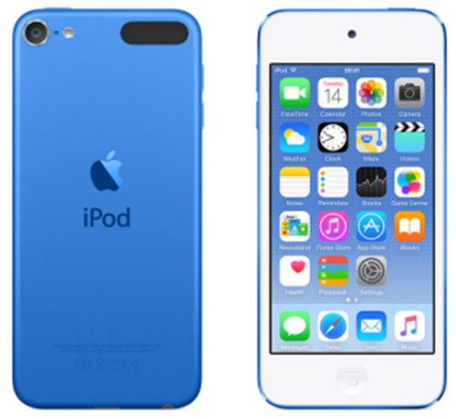 Apple iPod Touch (4.0 inch Multi-touch) Retina Display A8-Chip 32GB WLAN Bluetooth Camera iOS8 (Blue)