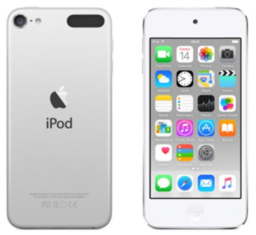 Apple iPod Touch (4.0 inch Multi-touch) Retina Display A8-Chip 32GB WLAN Bluetooth Camera iOS8 (Silver)