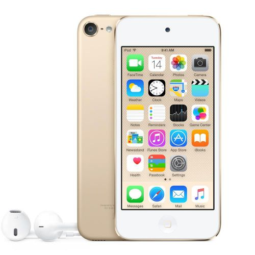 Apple iPod Touch (4.0 inch Multi-touch) Retina Display A8-Chip 128GB WLAN Bluetooth Camera iOS10 (Gold)
