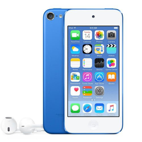 Apple iPod Touch (4.0 inch Multi-touch) Retina Display A8-Chip 128GB WLAN Bluetooth Camera iOS10 (Blue)