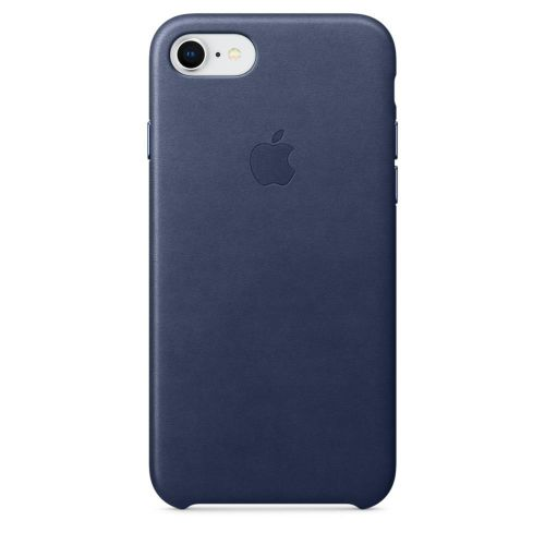 Apple Leather Case (Midnight Blue) for iPhone 7/8