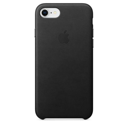 Apple Leather Case (Black) for iPhone 7/8