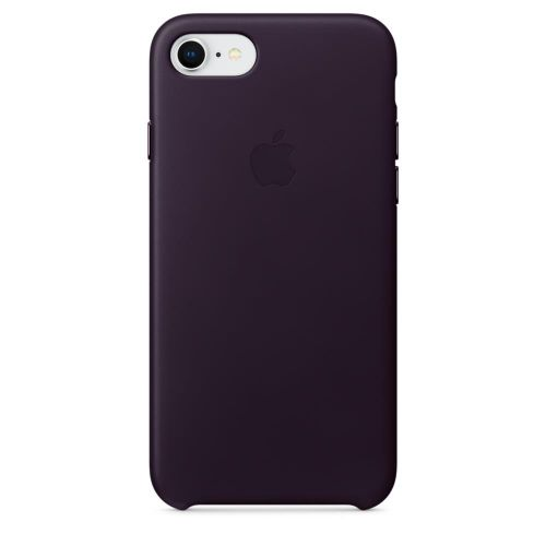 Apple Leather Case (Dark Aubergine) for iPhone 7/8