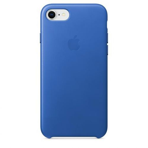 Apple Leather Case (Electric Blue) for iPhone 7/8