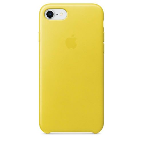 Apple Leather Case (Spring Yellow) for iPhone 7/8