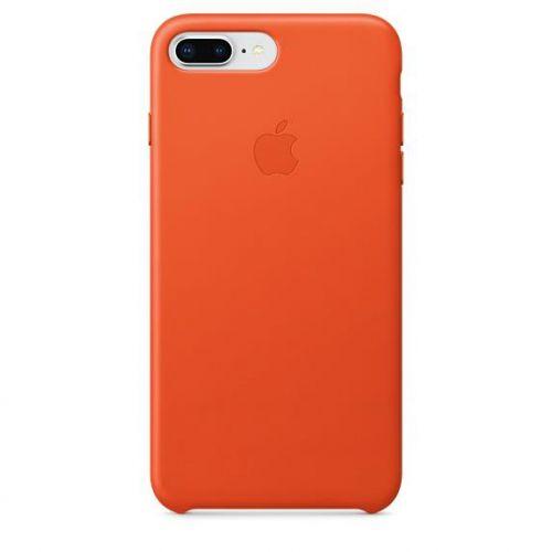 Apple Leather Case (Bright Orange) for iPhone 7 Plus/8 Plus