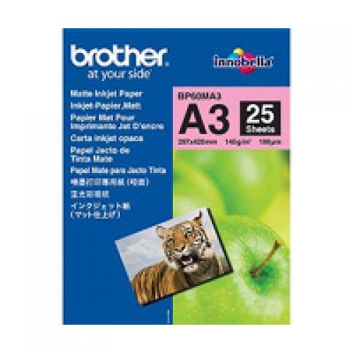 Brother BP60MA3 Premium Matt A3 Photo Paper (25 Sheets)