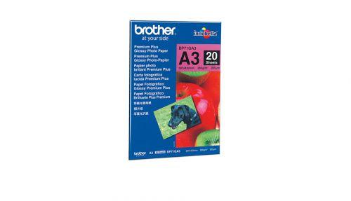 Brother BP71GA3 Innobella Premium Plus Glossy (A3) 260g/m2 Photo Paper (Pack of 20 Sheets)