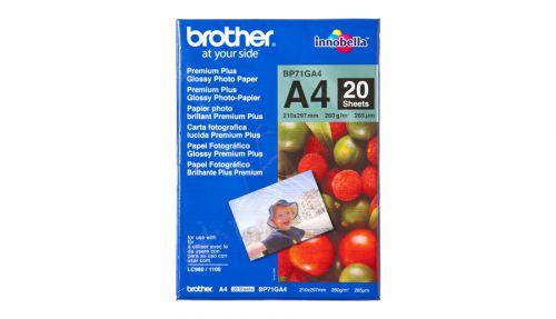 Brother BP71GA4 (A4) 260g/m2 Premium Plus Glossy Photo Paper (20 Sheets)