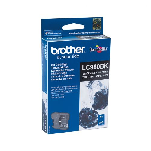 Brother LC980BK Black (Yield 300 Pages) Inkjet Cartridge