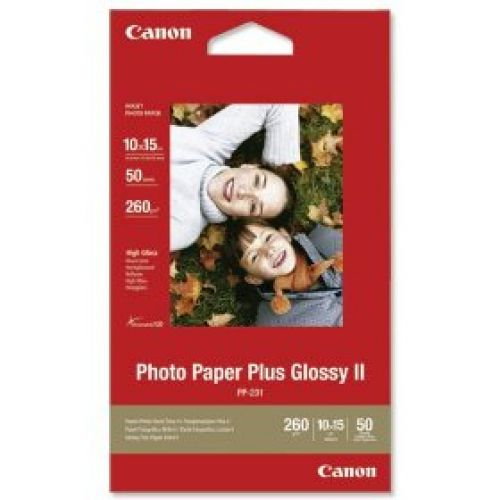 Canon Photo Paper Plus Glossy II PP-201 (4x6 inch/10x15cm) 275g/m2 Photo Paper (White) 5 Sheets