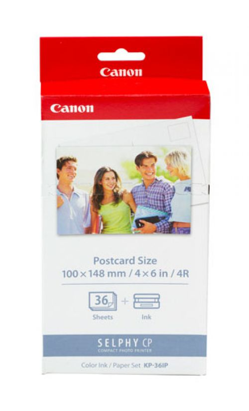 Canon KP-36IP (36 Photos) Cyan/Magenta/Yellow Ink Cartridge with 36 Sheets of Photo Paper