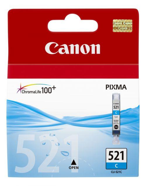 Canon CLI-521 Cyan Ink Cartridge 9ml Code 2934B001AA