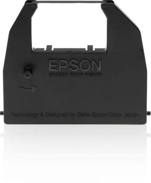 Epson Ribbon Cassette Fabric Nylon Black for LX80 86 GX80 Ref S015053