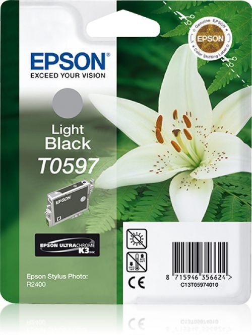 Epson T0597 Light Black Ink Cartridge for Stylus R2400 Printer Blister Pack