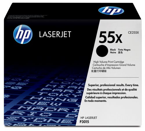 HP 55X (Yield: 12,500 Pages) High Yield Black Toner Cartridge