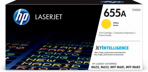 HP 655A (Yield 10,500 Pages) Original LaserJet Toner Cartridge (Yellow)