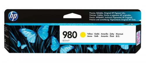 HP 980 (Yield 6600 Pages) Yellow Ink Cartridge for Officejet Enterprise X585z/X555dn/X555xh/X585dn/X585f Multifunction Printers