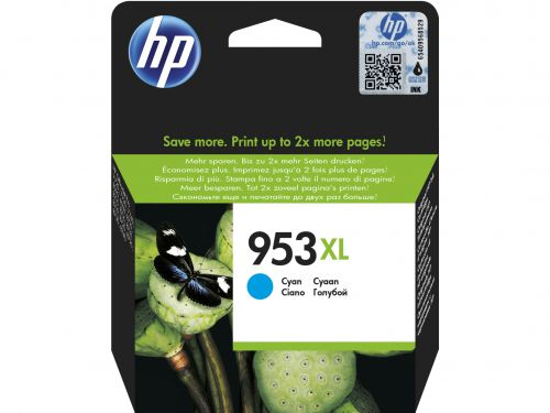 HP 953XL (Yield: 1,600 Pages) Cyan Ink Cartridge