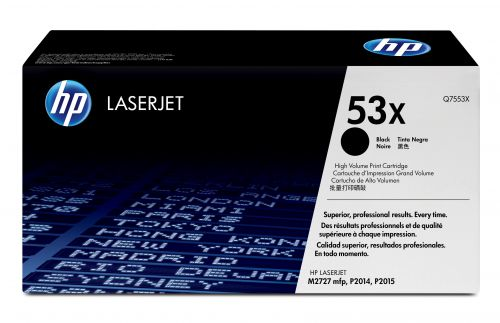 HP 53X (Yield: 7,000 Pages) Black Toner Cartridge