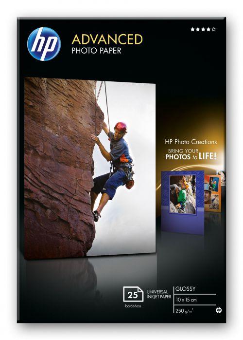 HP Advanced (10 x15cm) Glossy Photo Paper Borderless (25 Sheets) 250gsm (White)