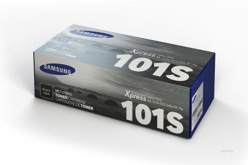 HP MLT-D101S Black Toner Cartridge (Yield 1500 Pages) for Samsung ML-2165W / ML-2165 / SCX-3405 / SCX-3405W / SCX-3405FW / SF-760P