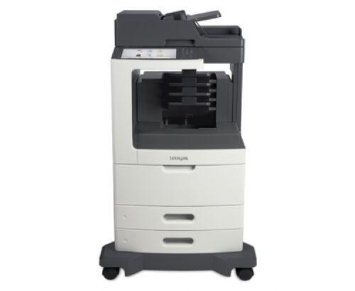 Lexmark MX810dme Mono Laser Multifunction Printer (Print/Copy/Scan/Fax) 1GB (10.2 inch) Colour Touchscreen 52ppm (Mono) with 4 bin Mailbox