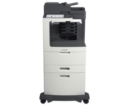 Lexmark MX810dxme Mono Laser Multifunction Printer (Print/Copy/Scan/Fax) 1GB (10.2 inch) Colour Touchscreen 52ppm (Mono) with 4 bin Mailbox and 2100 S