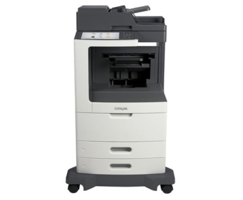 Lexmark MX811dfe Mono Laser Multifunction Printer (Print/Copy/Scan/Fax) 1GB (10.2 inch) Colour Touchscreen 60ppm (Mono) with Staple Finisher