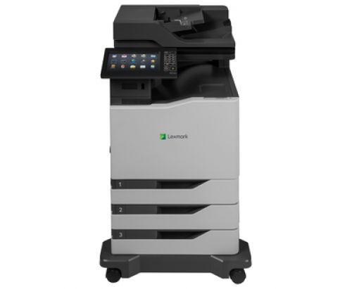 Lexmark CX860dte (A4) Colour Laser Multifunction Printer (Print/Copy/Scan/Fax) 2048MB (10 inch) Class Colour Touchscreen 57ppm (Mono) 57ppm (Colour) 3