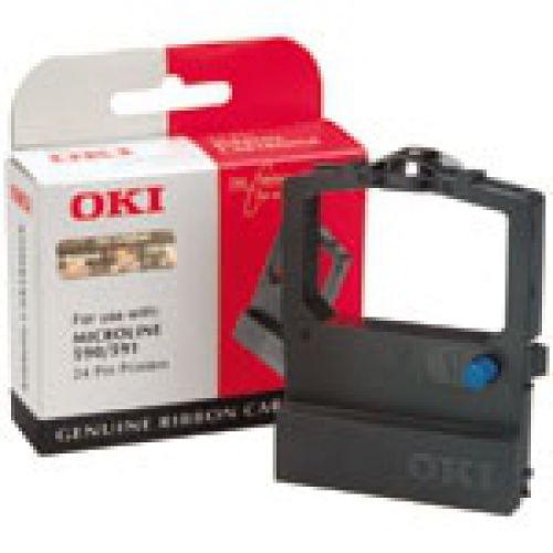 Oki Black Microline 590/591 Ri OKI 09002316 590 BLACK RIBBON