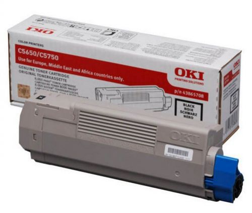 Oki C5650 Black Toner Cartridge Code 43865708
