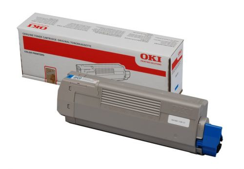 OKI Cyan Toner Cartridge (Yield: 6,000 Pages) for A4 Colour Printers