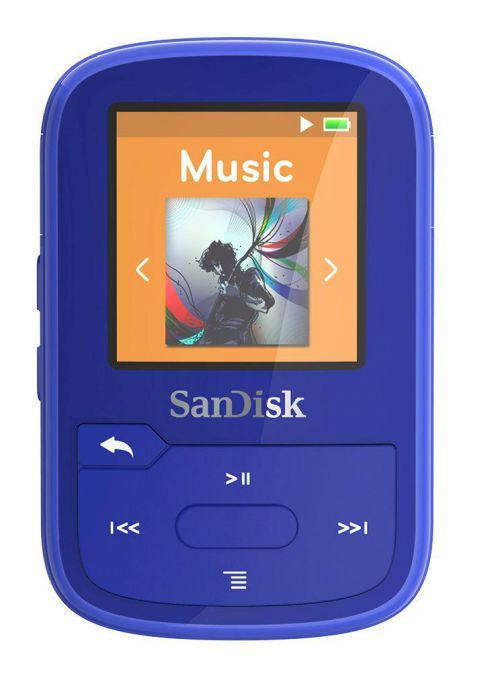 SanDisk Clip Sport Plus (16GB) MP3 Player, USB, Bluetooth, FM radio (Blue)