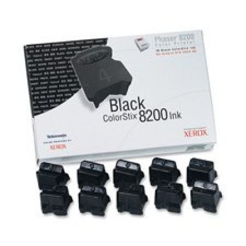 Xerox ColorStix Black (Yield 14,000 Pages) Solid Ink Sticks (Pack of 10) for Xerox Phaser 8200 Series