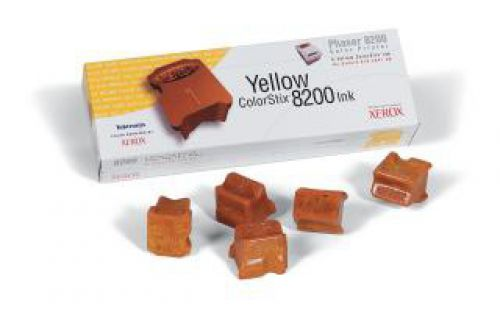 Xerox ColorStix Yellow (Yield 7,000 Pages) Solid Ink Sticks (Pack of 5) for Xerox Phaser 8200 Series