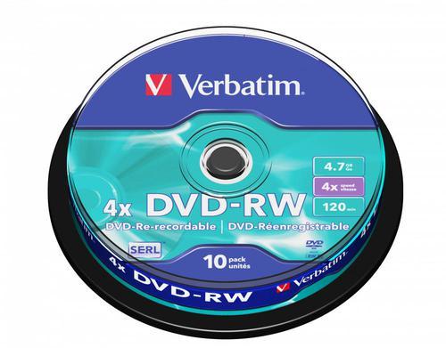 Verbatim DVD-RW Spindle Pack 10