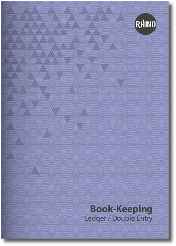 RHINO A4 Book-keeping Book 32 Page, Ledger Ruling