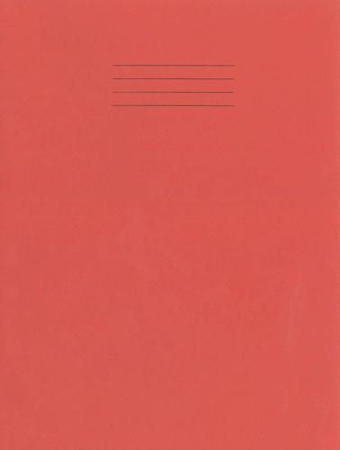Rhino Special Exercise Book A4 S10 Red Cover Pink 48 Page Ex681260PP 3P