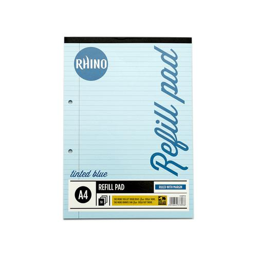RHINO A4 Special Refill Pad 50 Leaf, Blue Tinted Paper, F8M (Pack 6)
