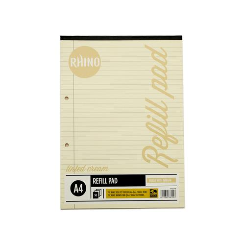 RHINO A4 Special Refill Pad 50 Leaf, Cream Tinted Paper, F8M (Pack 6)