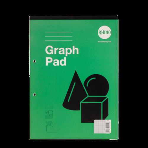 RHINO A4 Graph Pad 50 Leaf, 1:5:10 Graph Ruling (Pack 6)