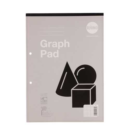 RHINO A4 Refill Pad 50 Leaf, 2:10:20 Graph Ruling and Blank Alternative Pages (Pack 6)