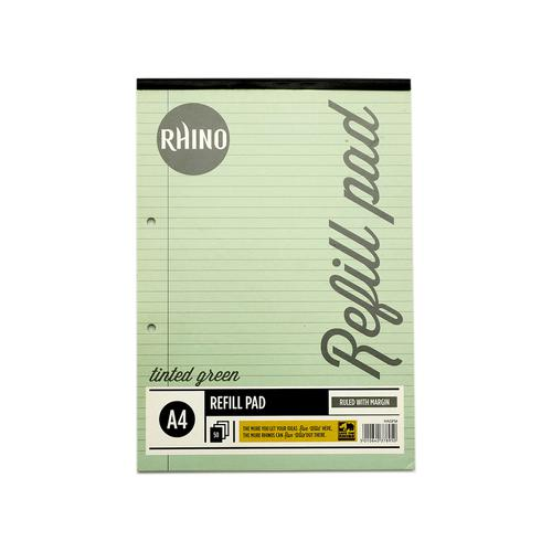 RHINO A4 Special Refill Pad 50 Leaf, Green Tinted Paper, F8M (Pack 6)